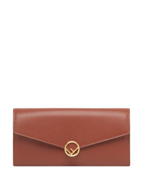 Fendi F Is  Continental Wallet In Brown