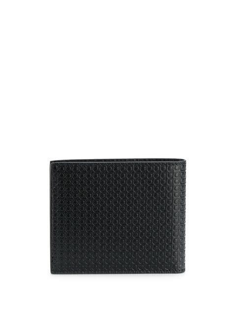 Salvatore Ferragamo Black Gancini Leather Wallet With Inner Purse