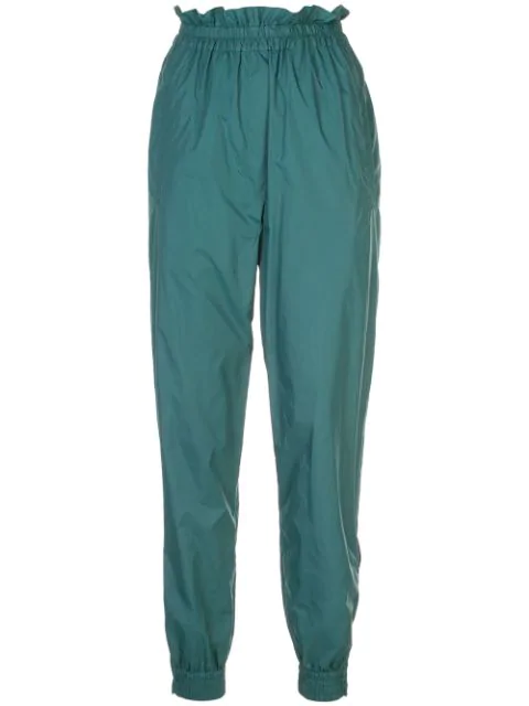 Tibi Jogger Tapered Trousers In Green