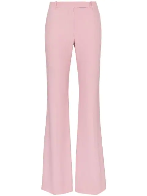 Alexander Mcqueen Skinny Bootcut Trousers In Pink