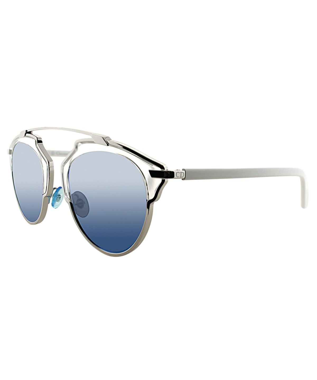 Dior So Real Aviator Metal Sunglasses' In White Blue