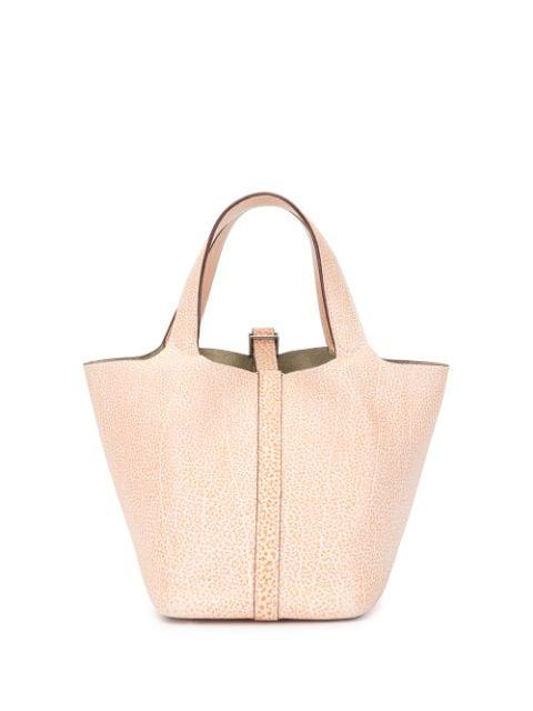 Pre-owned Hermes Picotin Pm Handbag In Pink