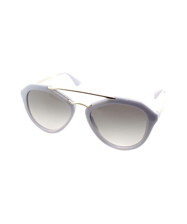 Prada Fashion Plastic Sunglasses In Opal Grey Matte Grey