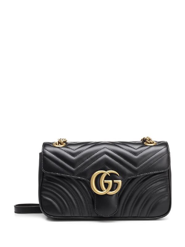 Gucci Gg Marmont 2.0 Matelassé Shoulder Bag In Black