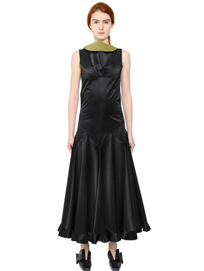 J.W.Anderson Sleeveless Heavy Satin Dress In Black
