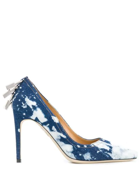 Dsquared2 Lock Detail Dyed Pumps In Blue