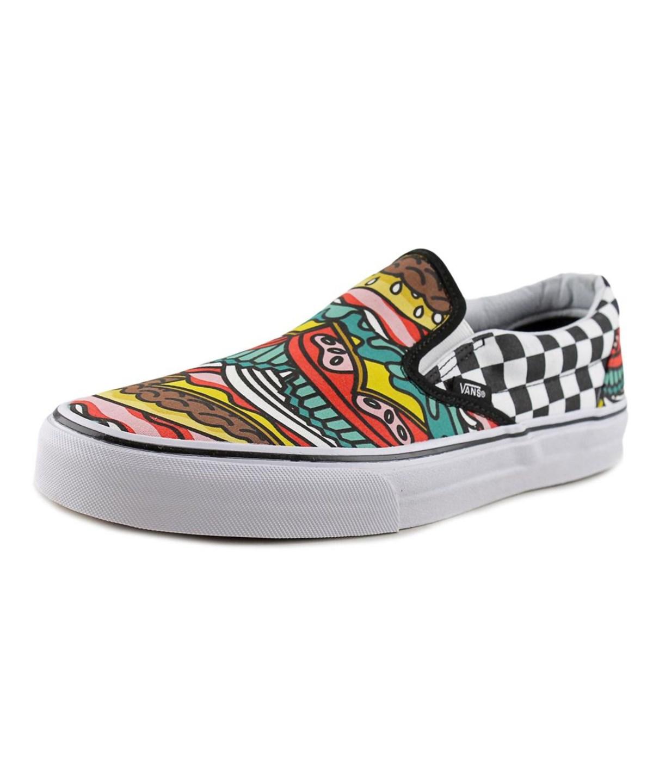 0fe002eff797 Vans Classic Slip-On Men Round Toe Canvas Multi Color Skate Shoe  In  Multiple