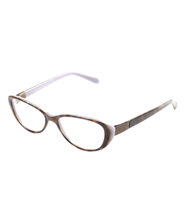 Kate Spade Cat-eye Plastic Eyeglasses In Tortoise Lilac