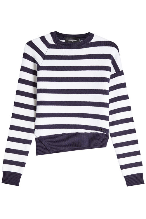 Dsquared2 Striped Wool Pullover In Stripes