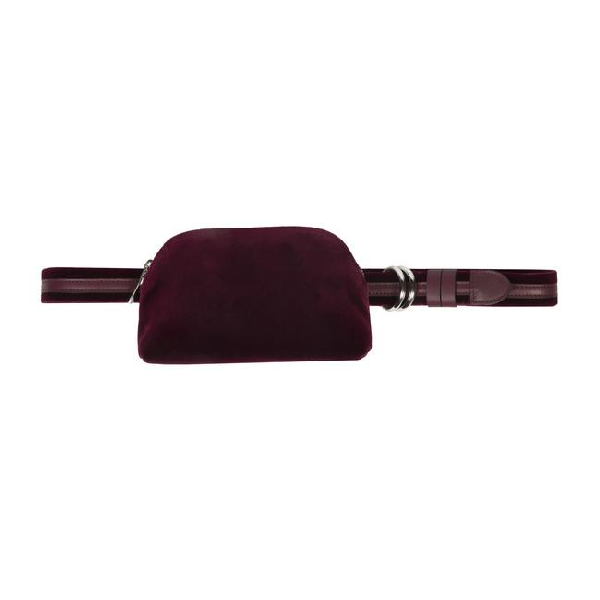 Meli Melo Beltbag Burgundy Velvet For Women