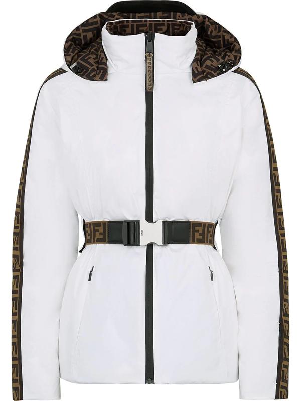Fendi Reversible Hooded Ski Jacket In White