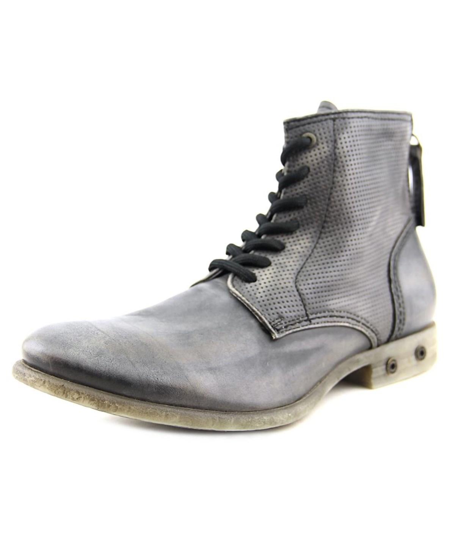 bba0564444b Diesel Chron Zip Men Round Toe Leather Black Boot'