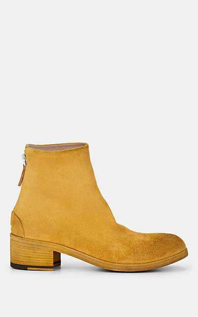 MarsÈLl Distressed Suede Ankle Boots In Yellow