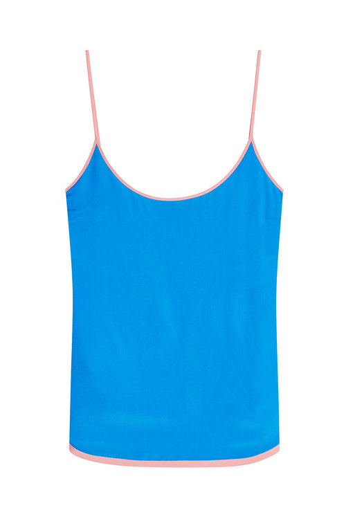 Emilio Pucci Silk Camisole In Blue