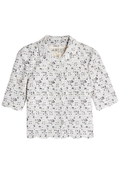 Giambattista Valli Embroidered Jacket With Cotton In Magenta