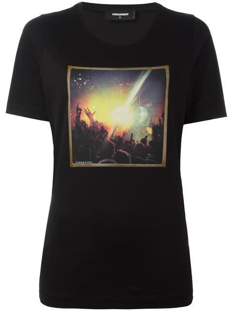 Dsquared2 Love Concert Photo T-shirt In Black