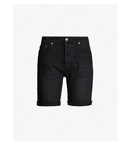 Ksubi Turned-Up Denim Shorts In Black