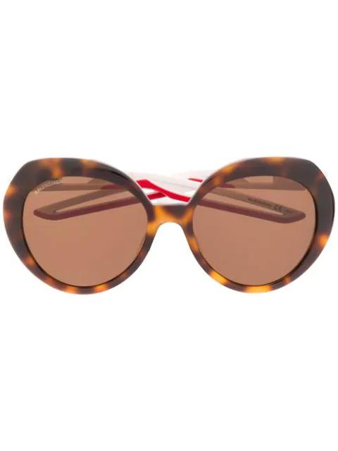 Balenciaga Hybrid Butterfly Sunglasses In Brown