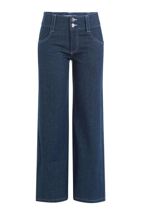 Sandy Liang Wide Leg Jeans In Blue