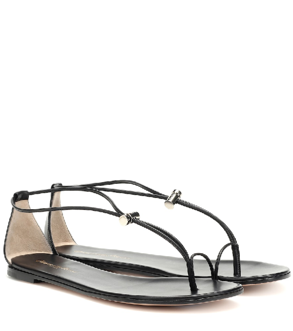 Gianvito Rossi Leather Sandals In Black