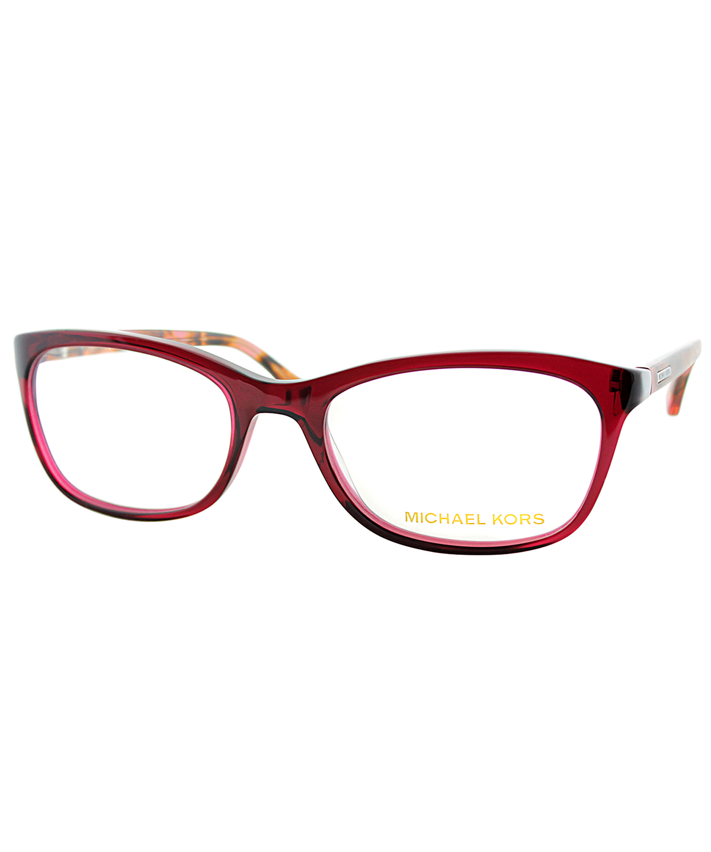 Michael Kors Fashion Plastic Eyeglasses In Burgundy