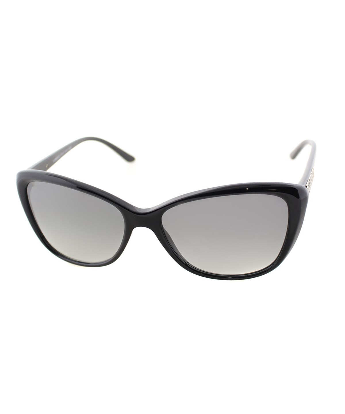 Versace Cat-eye Plastic Sunglasses In Shiny Black