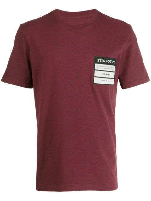 Maison Margiela Stereotype T-Shirt In Red