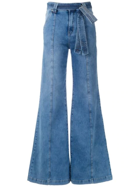 Amapô Wide Leg Jeans In Blue