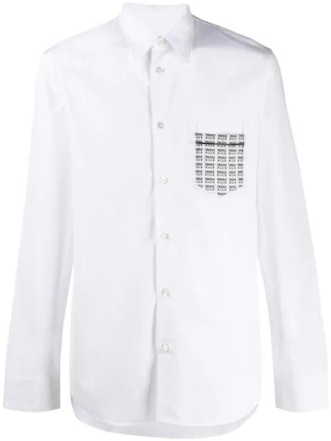 Maison Margiela Hemd Mit Print In White