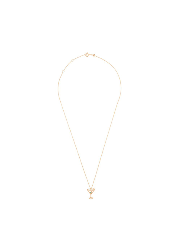 Aliita 9kt Yellow Gold Diamond Cocktail Necklace In J1000 Yellow Gold