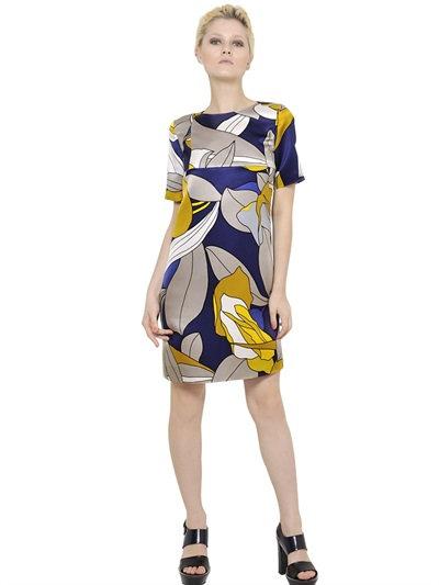 Marni Cotton Blend Ottoman Dress In Multicolor