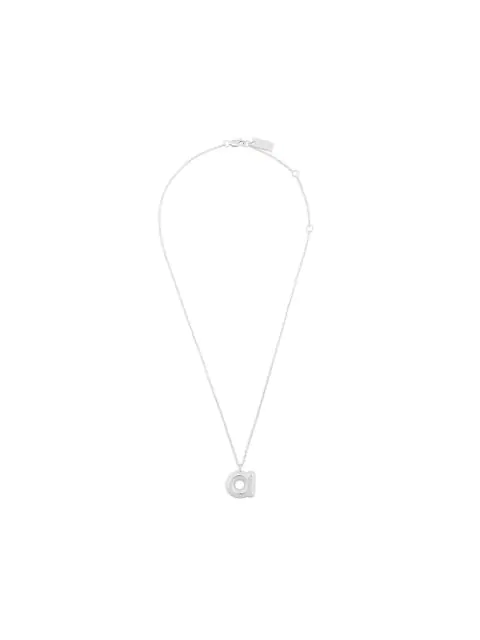 Marc Jacobs Bubbly A Pendant In Silver