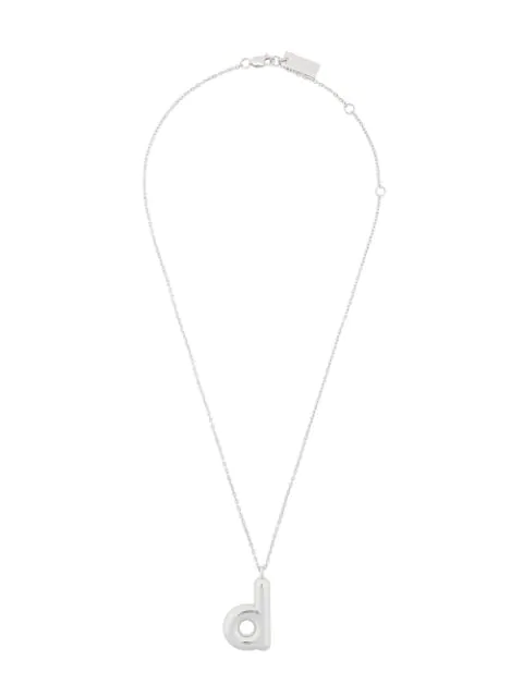 Marc Jacobs Bubbly D Pendant In Silver