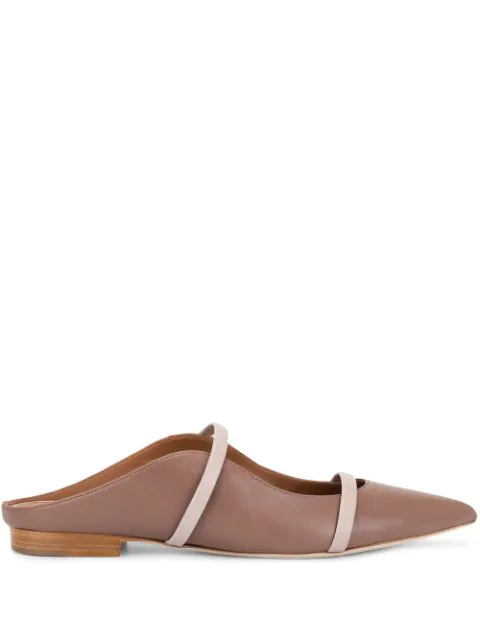 Malone Souliers Maureen Pointy Toe Flat In Brown