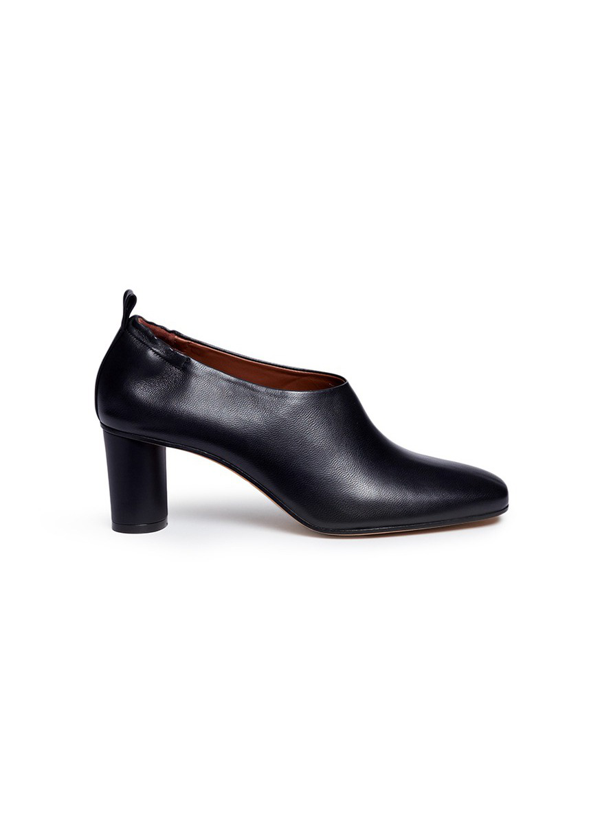 Gray Matters 'micol' Choked-up Nappa Leather Pumps In Black
