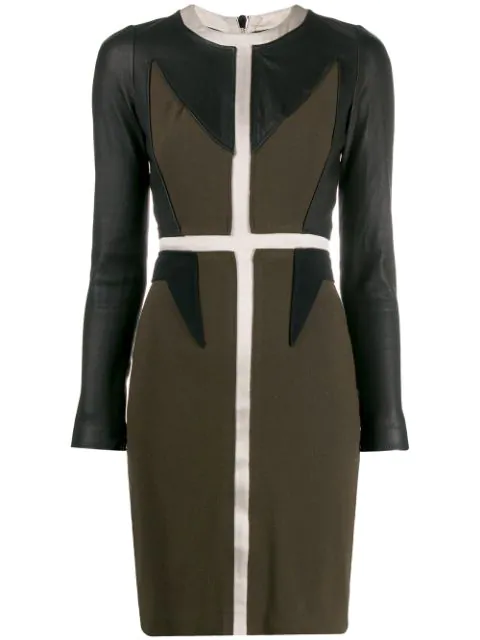Givenchy '2000s Panelled Dress In Black
