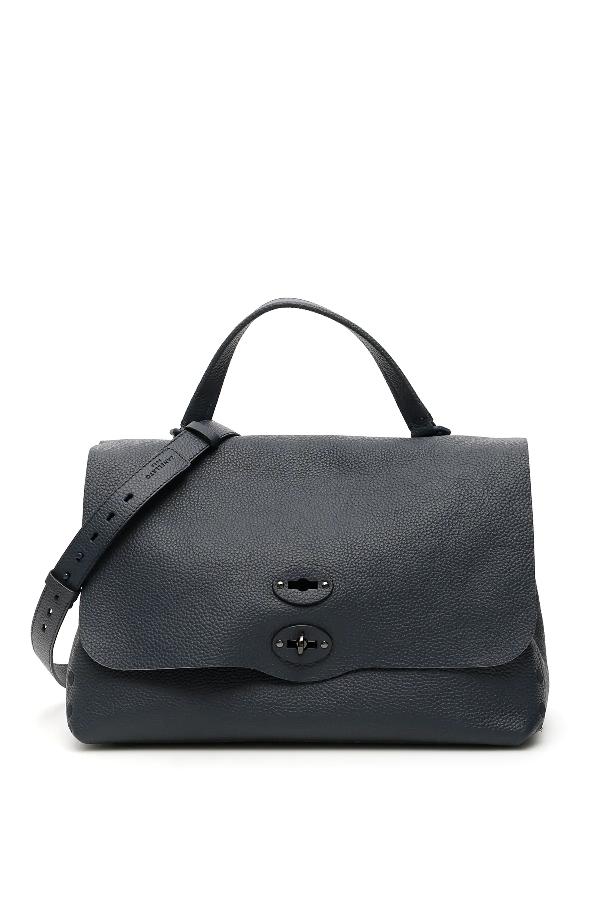 Zanellato Pura Postina M Bag In Blue