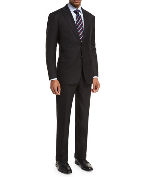 Brioni Essential Virgin Wool Two-Piece Suit In Black