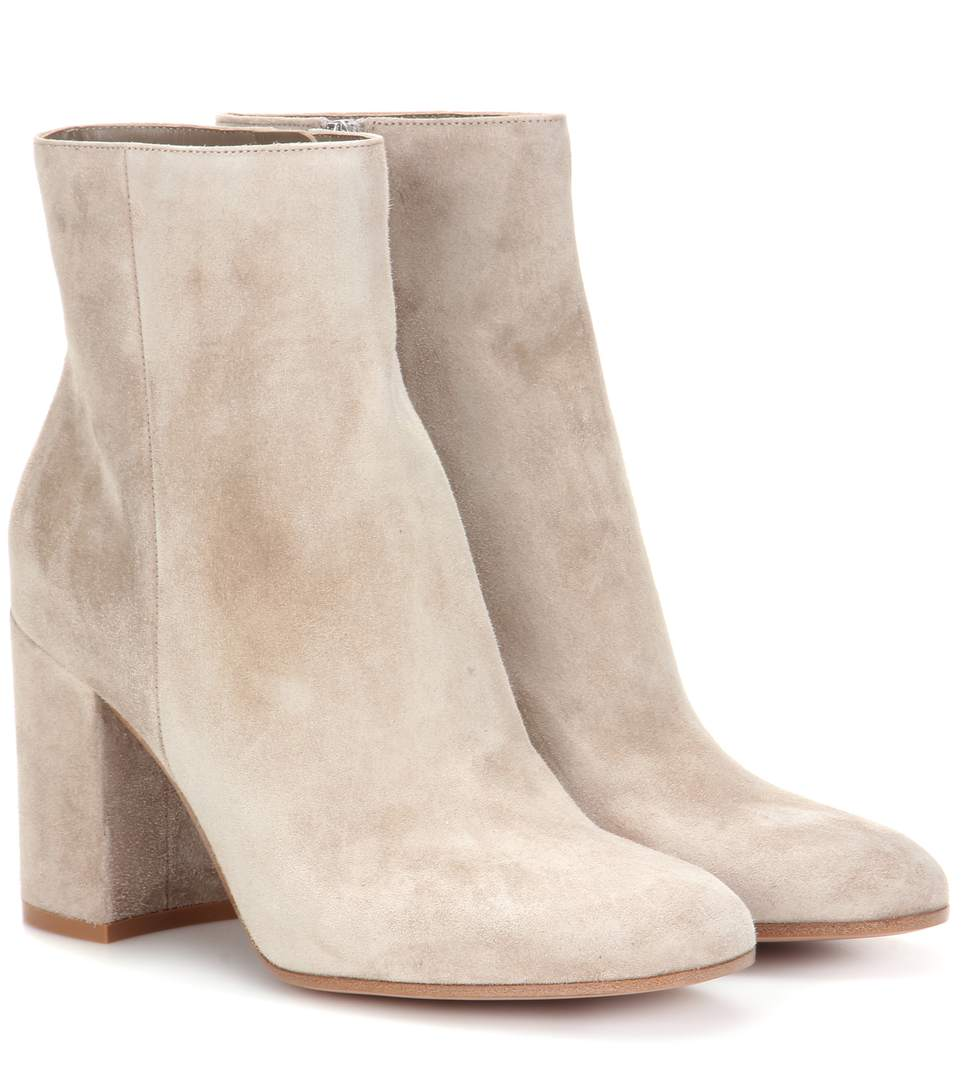 Gianvito Rossi Exclusive To Mytheresa.com – Rolling 85 Suede Ankle Boots In Cachemire