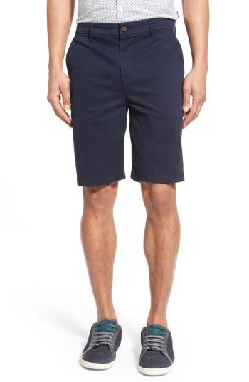 Paige 'thompson' Slim Fit Shorts In Navy Cadet
