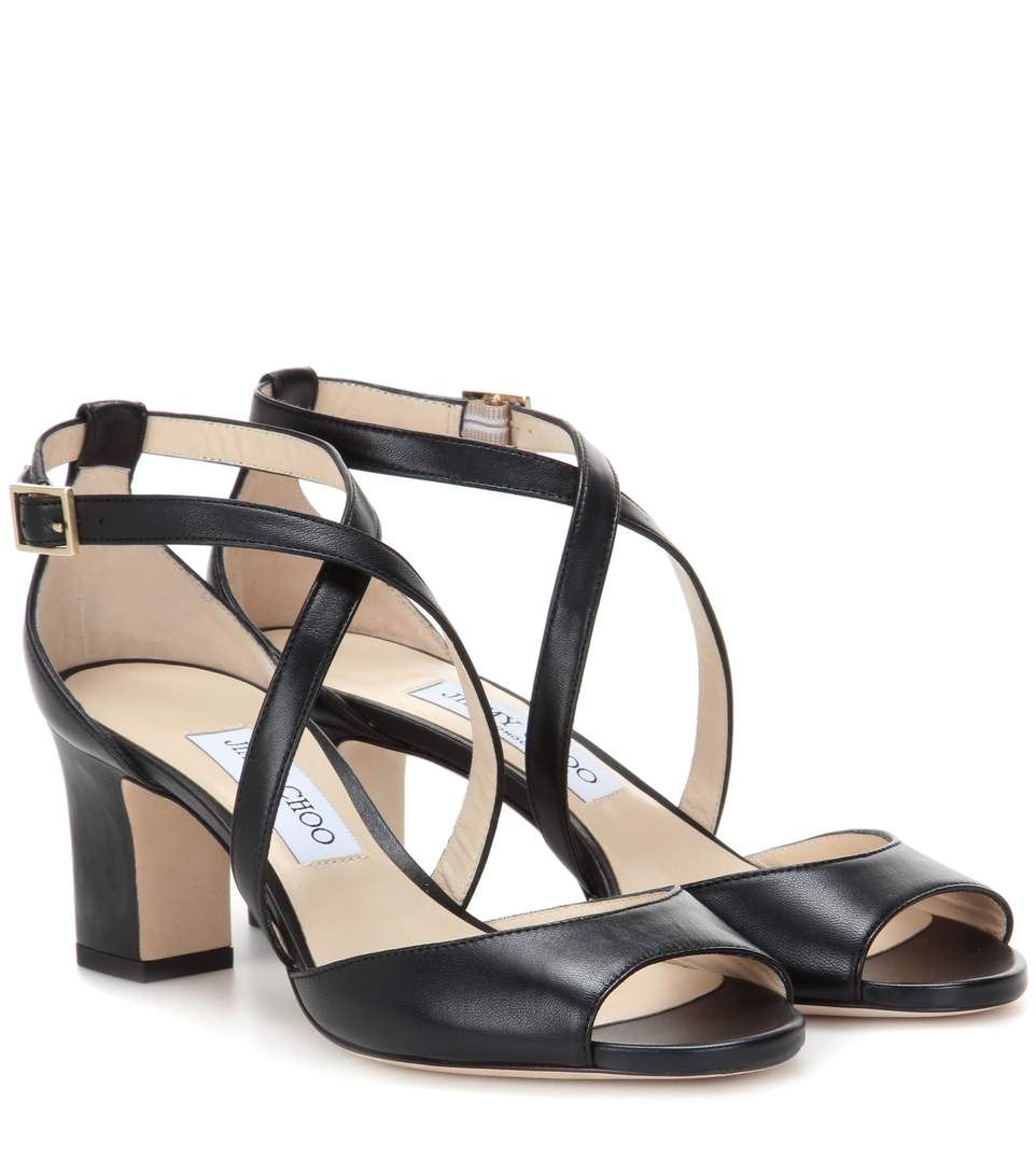 Jimmy Choo Carrie 65 Leather Sandals