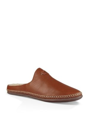 Ugg Tamara Pure™ Leather Slippers In Chestnut