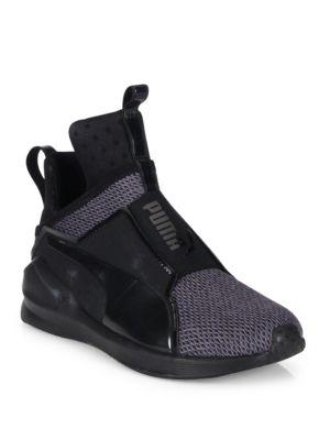 Puma Fierce Knit Training Sneaker In Black
