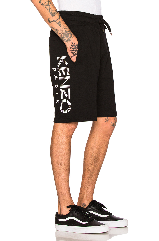 67b25d55 Kenzo Logo Cotton Drawstring-Waist Shorts In Black | ModeSens