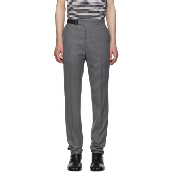 Maison Margiela Buckled Tailored Trousers In 859m Grey