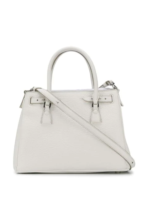 Maison Margiela 5ac Hand Bag In Calf Leather Color Pink White In H7736 White