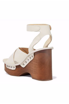 07e10a6b4c6 Rag   Bone Hester Leather Clog Sandals - Ivorybone