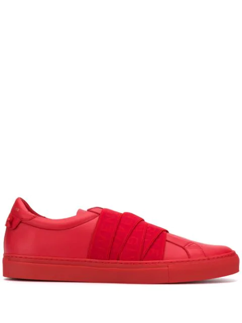 Givenchy 4G Webbing Sneakers In Red