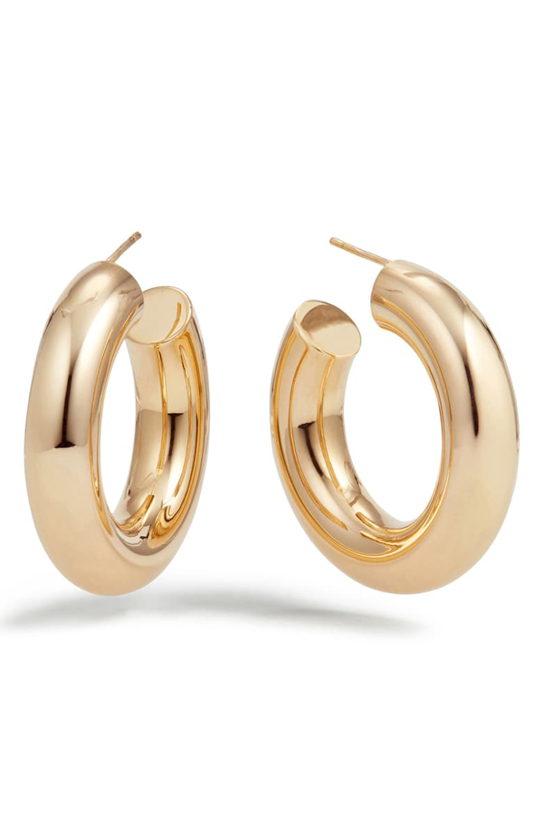 Lana Mega Royale Hoop Earrings In Yellow Gold