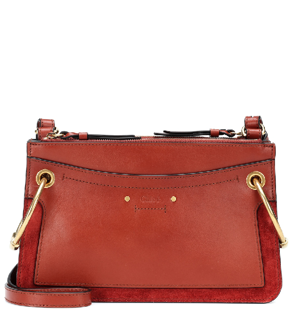 7613c661b ChloÉ 'Roy' Ring Suede Panel Mini Leather Crossbody Bag In Brown ...